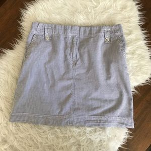 Ann Taylor LOFT Blue/White Stripe Mini Skirt